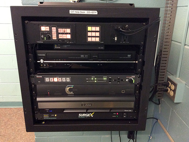AV Control Panel with VCR/DVD player