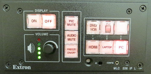 AV Projector On/Off Controls