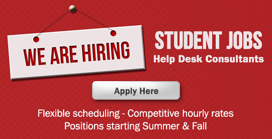 OIT-Camden is taking applications for student jobs. Find out more and apply online.