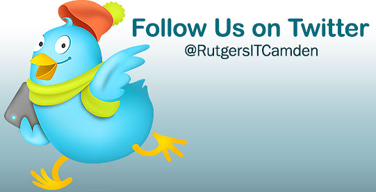 Follow the Rutgers IT Camden account on Twitter